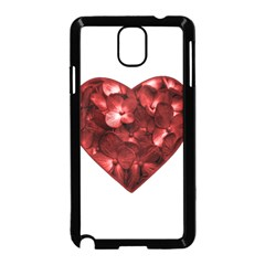 Floral Heart Shape Ornament Samsung Galaxy Note 3 Neo Hardshell Case (Black)