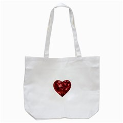 Floral Heart Shape Ornament Tote Bag (White)