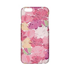 Peonies Flower Floral Roes Pink Flowering Apple iPhone 6/6S Hardshell Case