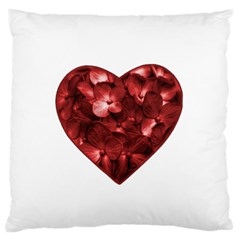 Floral Heart Shape Ornament Standard Flano Cushion Case (One Side)