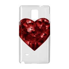 Floral Heart Shape Ornament Samsung Galaxy Note 4 Hardshell Case