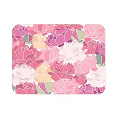 Peonies Flower Floral Roes Pink Flowering Double Sided Flano Blanket (Mini)