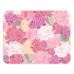 Peonies Flower Floral Roes Pink Flowering Double Sided Flano Blanket (Large)