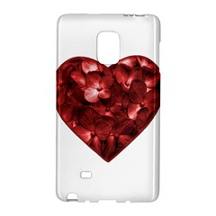 Floral Heart Shape Ornament Galaxy Note Edge
