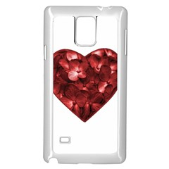 Floral Heart Shape Ornament Samsung Galaxy Note 4 Case (White)