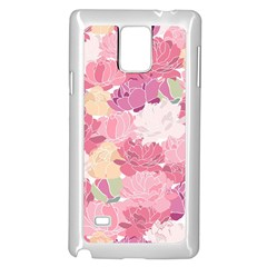 Peonies Flower Floral Roes Pink Flowering Samsung Galaxy Note 4 Case (White)