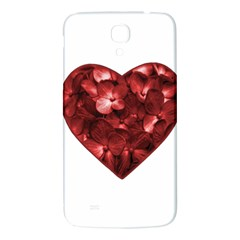 Floral Heart Shape Ornament Samsung Galaxy Mega I9200 Hardshell Back Case