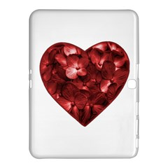 Floral Heart Shape Ornament Samsung Galaxy Tab 4 (10.1 ) Hardshell Case