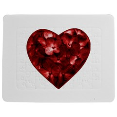 Floral Heart Shape Ornament Jigsaw Puzzle Photo Stand (Rectangular)