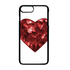 Floral Heart Shape Ornament Apple iPhone 7 Plus Seamless Case (Black)