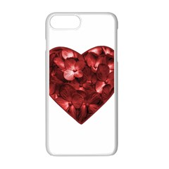 Floral Heart Shape Ornament Apple iPhone 7 Plus White Seamless Case