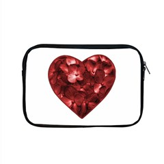 Floral Heart Shape Ornament Apple MacBook Pro 15  Zipper Case