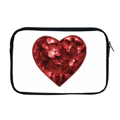 Floral Heart Shape Ornament Apple MacBook Pro 17  Zipper Case