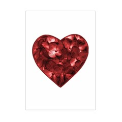Floral Heart Shape Ornament Small Tapestry