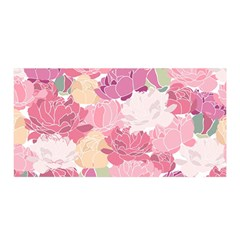 Peonies Flower Floral Roes Pink Flowering Satin Wrap