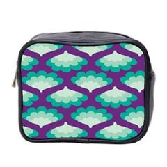 Purple Flower Fan Mini Toiletries Bag 2-Side