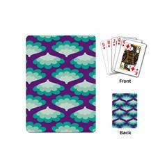 Purple Flower Fan Playing Cards (Mini)