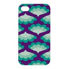 Purple Flower Fan Apple iPhone 4/4S Premium Hardshell Case