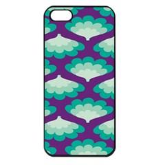 Purple Flower Fan Apple iPhone 5 Seamless Case (Black)