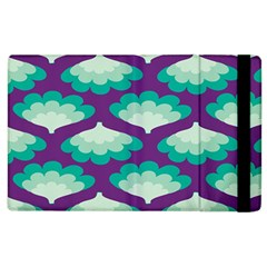Purple Flower Fan Apple iPad 3/4 Flip Case