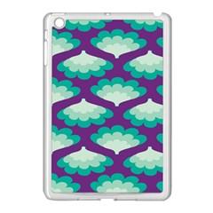 Purple Flower Fan Apple iPad Mini Case (White)