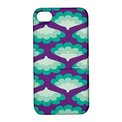 Purple Flower Fan Apple iPhone 4/4S Hardshell Case with Stand