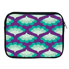 Purple Flower Fan Apple iPad 2/3/4 Zipper Cases