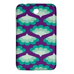 Purple Flower Fan Samsung Galaxy Tab 3 (7 ) P3200 Hardshell Case