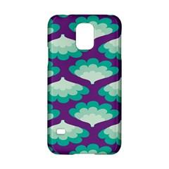 Purple Flower Fan Samsung Galaxy S5 Hardshell Case