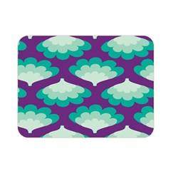 Purple Flower Fan Double Sided Flano Blanket (Mini)