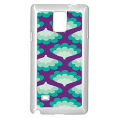 Purple Flower Fan Samsung Galaxy Note 4 Case (White)