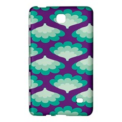 Purple Flower Fan Samsung Galaxy Tab 4 (7 ) Hardshell Case