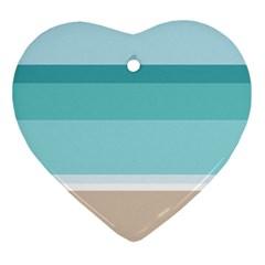 Rainbow Flag Ornament (Heart)