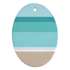Rainbow Flag Oval Ornament (Two Sides)