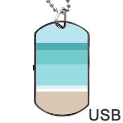 Rainbow Flag Dog Tag USB Flash (Two Sides)