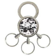 Point Line Plane Themed Original Design 3-Ring Key Chains