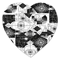 Point Line Plane Themed Original Design Jigsaw Puzzle (Heart)
