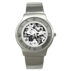 Point Line Plane Themed Original Design Stainless Steel Watch