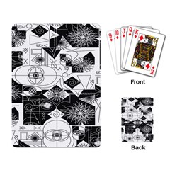 Point Line Plane Themed Original Design Playing Card