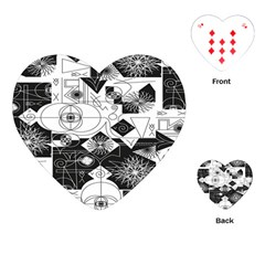 Point Line Plane Themed Original Design Playing Cards (Heart)