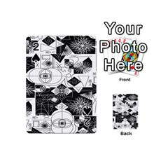 Point Line Plane Themed Original Design Playing Cards 54 (Mini)