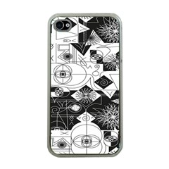 Point Line Plane Themed Original Design Apple iPhone 4 Case (Clear)