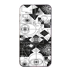 Point Line Plane Themed Original Design Apple iPhone 4/4s Seamless Case (Black)