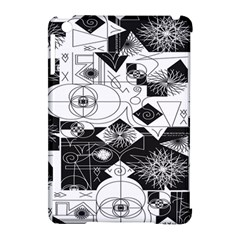Point Line Plane Themed Original Design Apple iPad Mini Hardshell Case (Compatible with Smart Cover)