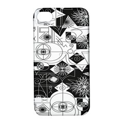 Point Line Plane Themed Original Design Apple iPhone 4/4S Hardshell Case with Stand
