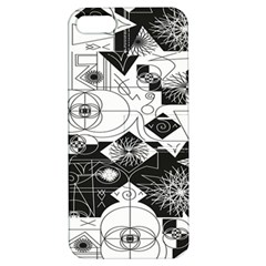 Point Line Plane Themed Original Design Apple iPhone 5 Hardshell Case with Stand