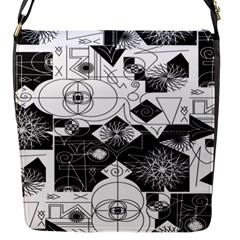 Point Line Plane Themed Original Design Flap Messenger Bag (S)