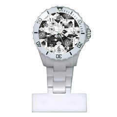 Point Line Plane Themed Original Design Plastic Nurses Watch