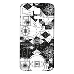Point Line Plane Themed Original Design Samsung Galaxy S5 Back Case (White)