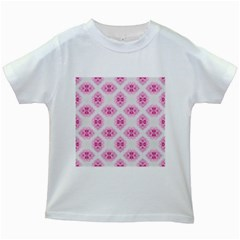 Peony Photo Repeat Floral Flower Rose Pink Kids White T-Shirts